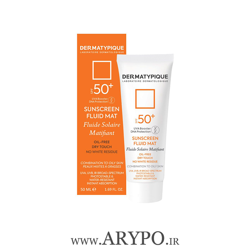 تصویر فلوئید ضد آفتاب بی رنگ فاقد چربی DERMATYPIQUE SPF50 Dermatypique Sunscreen Fluid Mat SPF 50